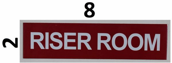 SIGNS Riser Room Sign (RED,Double Sided Tape,
