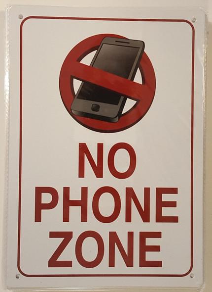 NO PHONE ZONE SIGN ( RUST
