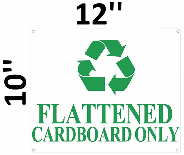 SIGNS FLATTENED Cardboard ONLY Sign (White, Aluminium