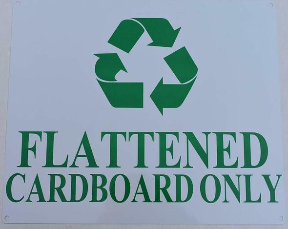 FLATTENED Cardboard ONLY Sign (White, Aluminium