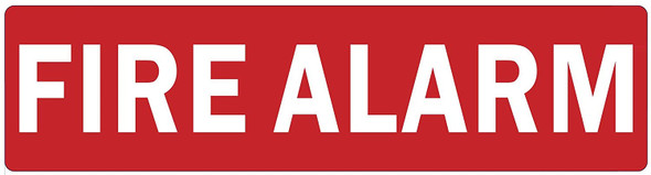SIGNS FIRE Alarm Sign (RED,Double Sided Tape,