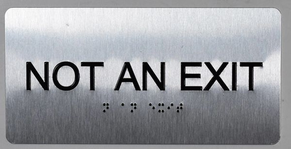 SIGNS NOT an EXIT Sign Silver-Tactile Touch