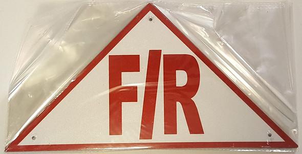 State Truss Construction Sign-F/R Triangular(White,Reflective Aluminum