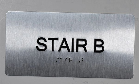 BUILDING MANAGEMENT SIGN-Stair B
