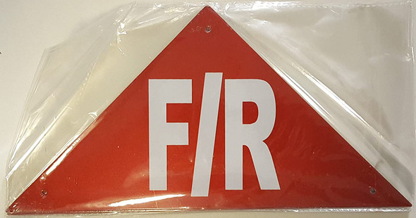 State Truss Construction Sign-F/R (RED,Reflective Aluminum,12