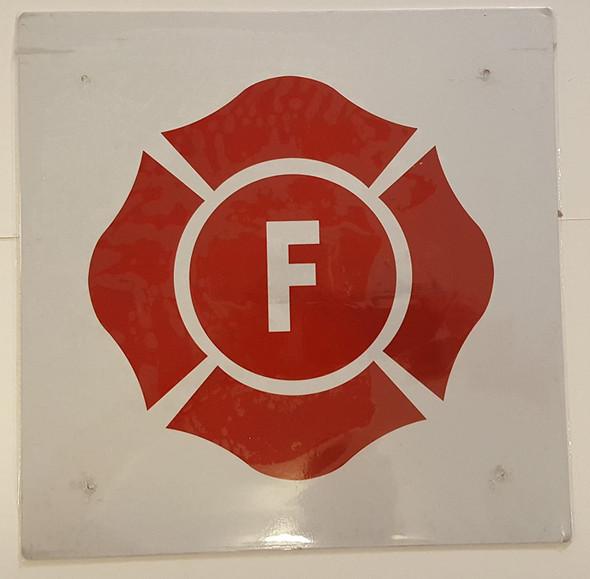 FLORIDA Truss Construction Sign-F (WHITE ,Reflective