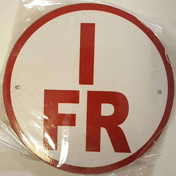 I-FR Floor Truss Circular Sign -
