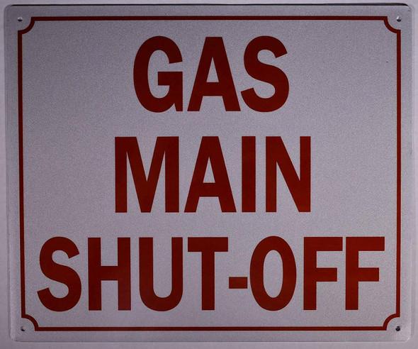 GAS MAIN SHUT-OFF SIGN (ALUMINUM SIGNS
