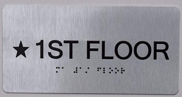 Star 1ST FLOOR SIGN