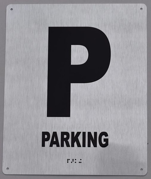 SIGNS Parking Floor Number Sign -Tactile Signs