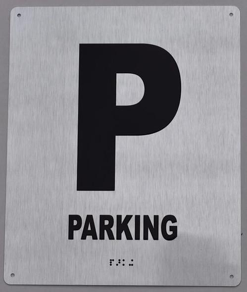 P Parking Sign