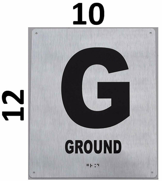 SIGNS Ground Floor Sign -Tactile Signs Tactile