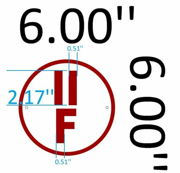 SIGN II-F Floor Truss Circular Sign