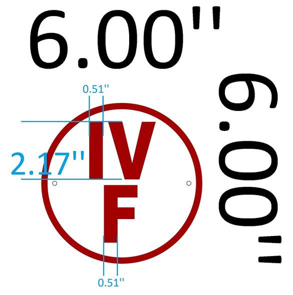 SIGNS IV F Floor Truss Circular Sign (WHITE