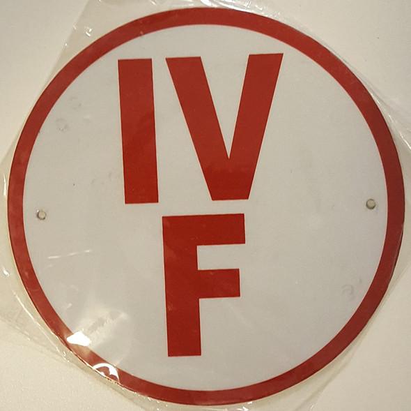 IV-F Floor Truss Circular Sign (WHITE