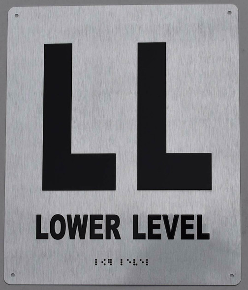 LL Lower Level Sign