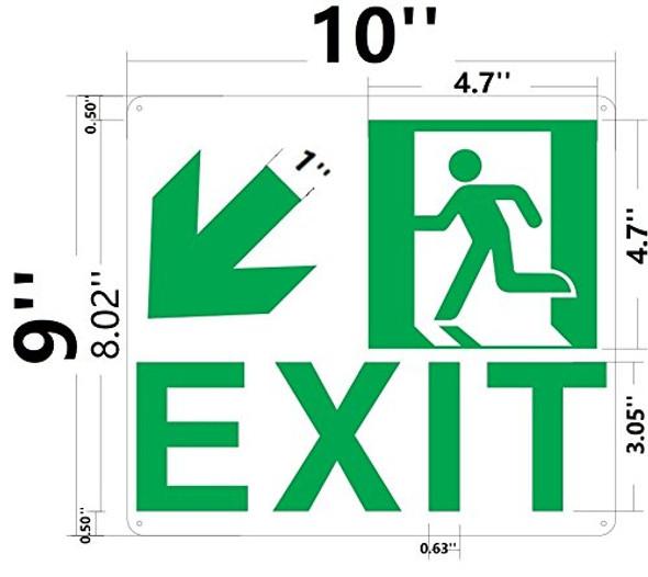SIGN Exit Arrow Left Down