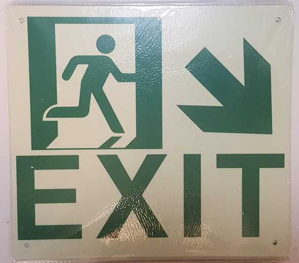 SIGN Exit Arrow Right Down