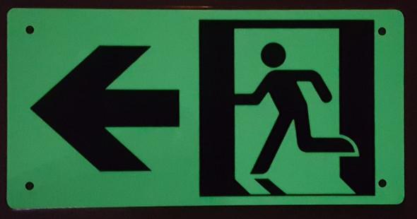 Compliance Sign-SIGNS RUNNING MAN LEFT ARROW