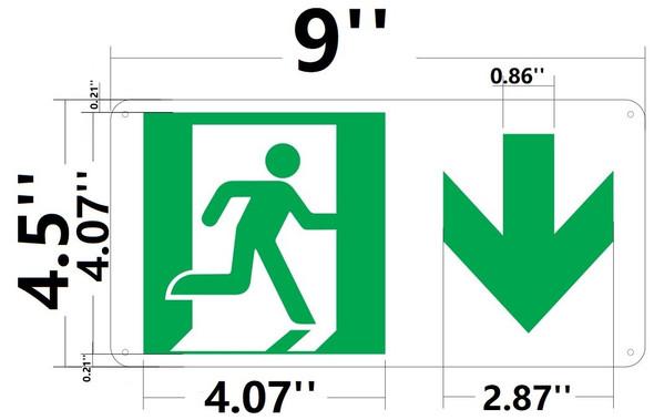SIGNS RUNNING MAN DOWN ARROW SIGN -