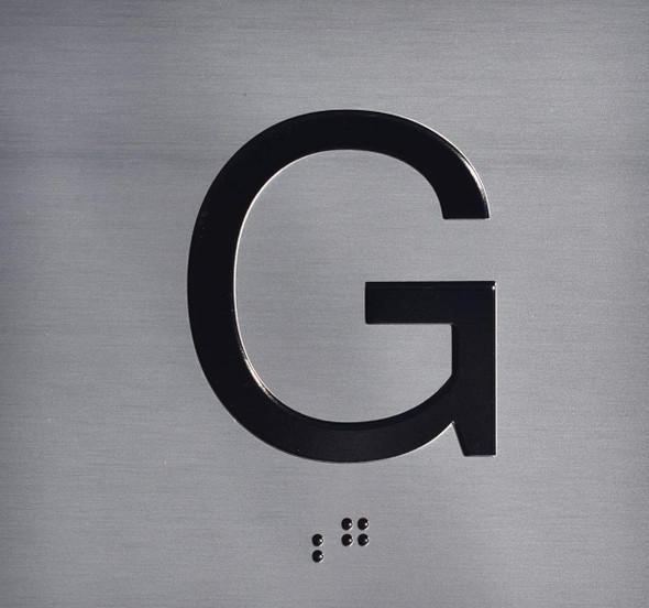 Ground Elevator Jamb (G) Plate Sign
