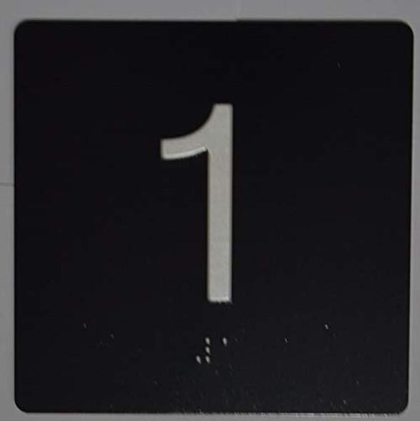 1st Floor Elevator Jamb Plate Sign