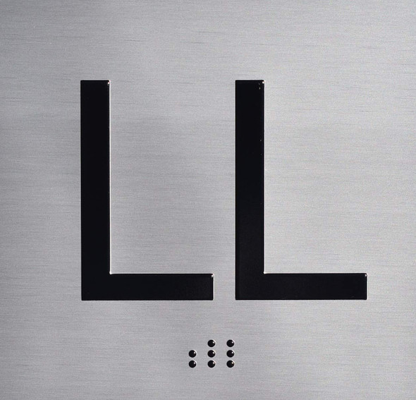 SIGNS LL Floor Elevator Jamb Plate