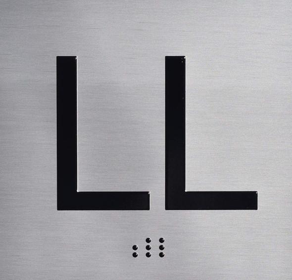 LL Floor Elevator Jamb Plate Sign