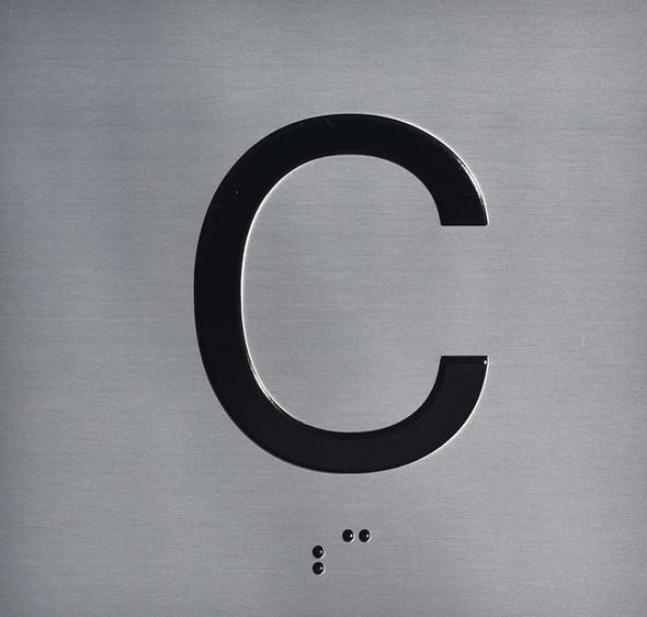 C Floor Elevator Jamb Plate Sign