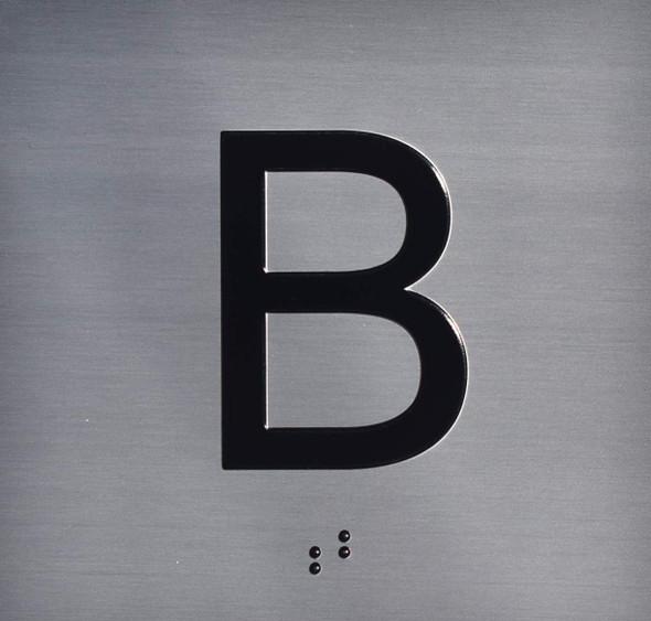 B Floor Elevator Jamb Plate Sign