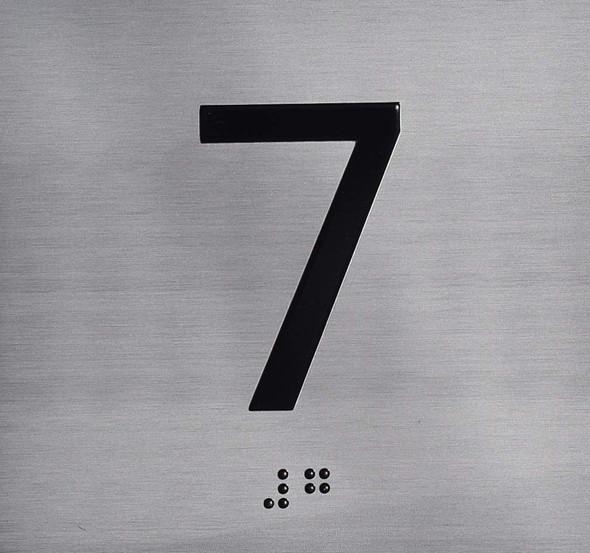7TH Floor Elevator Jamb Plate Sign