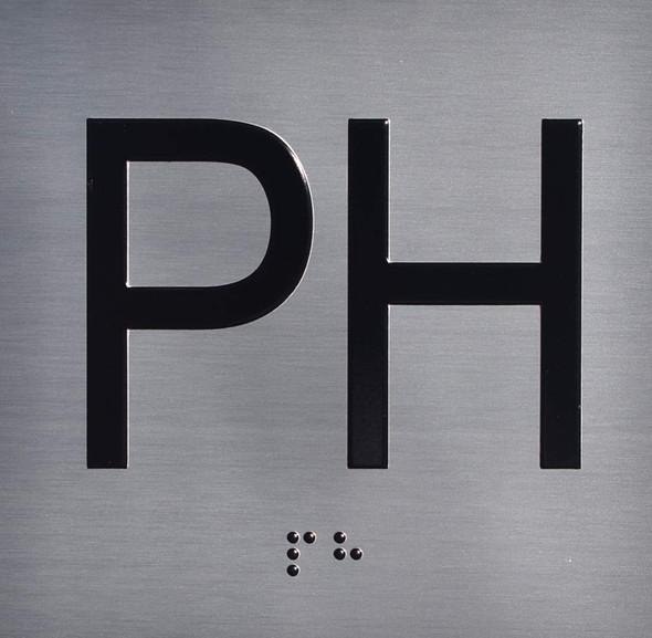 PH Floor Elevator Jamb Plate Sign