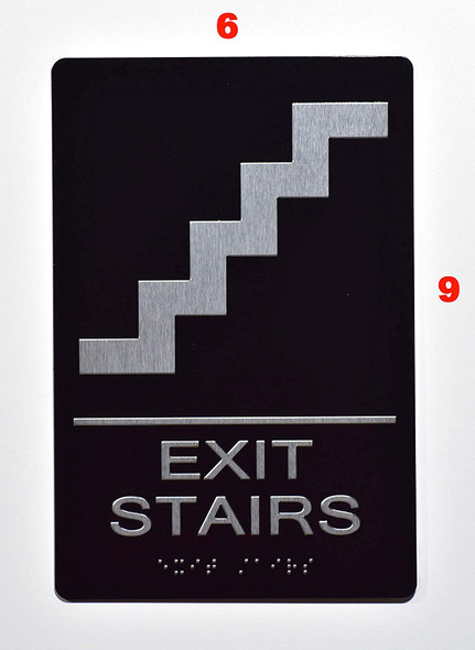 Compliance Sign-EXIT Stairs