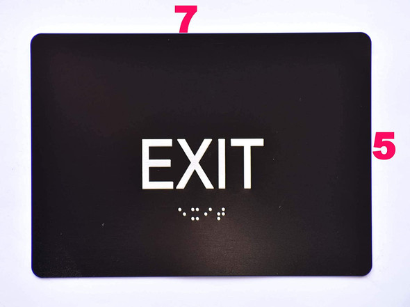 Compliance Sign- EXIT