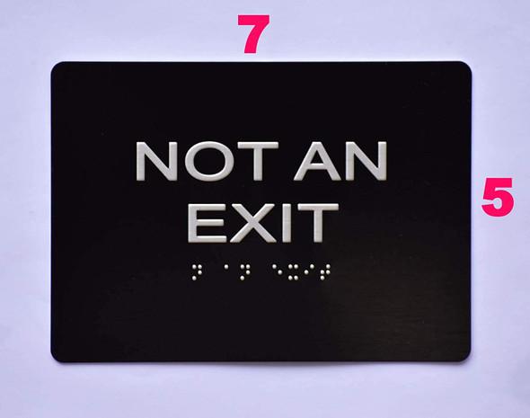 SIGNS NOT an EXIT Sign Black (Aluminium,