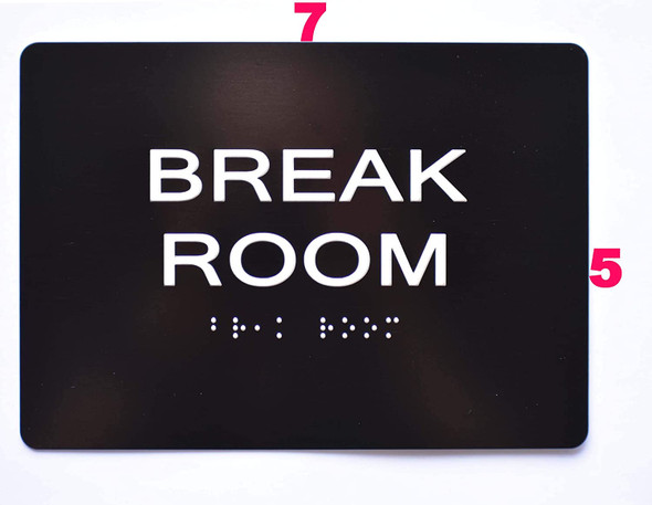 Sign Break Room