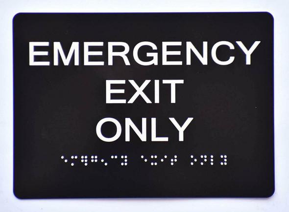 Emergency EXIT ONLY Sign Black (Aluminium,