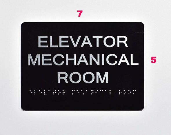 BUILDING MANAGEMENT SIGN- Elevator Mechanical Room