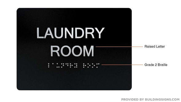 Compliance Sign-Laundry Room