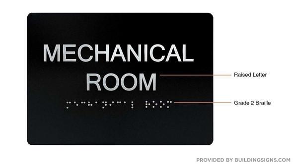 Compliance Sign-Mechanical Room