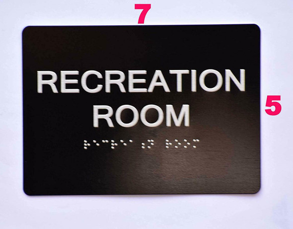 Compliance Sign-Recreation Room