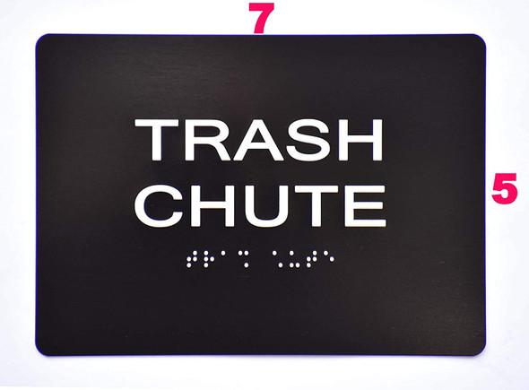 Compliance Sign- Trash Chute