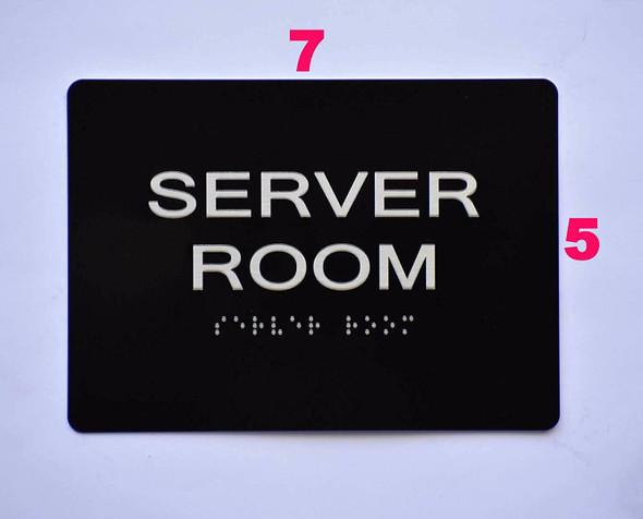 Compliance Sign-Server Room