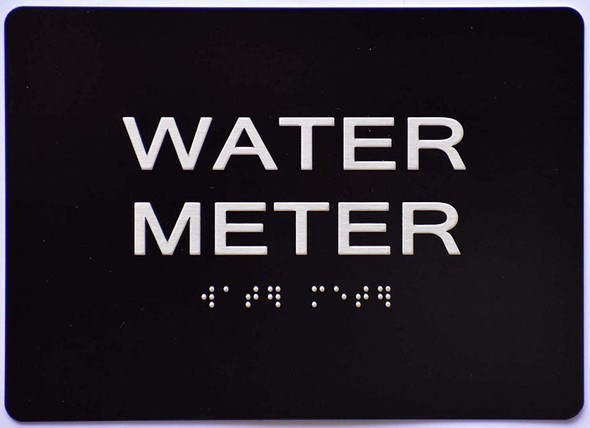 Compliance Sign- Water Meter