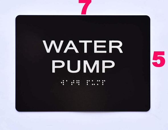 Sign Water Pump