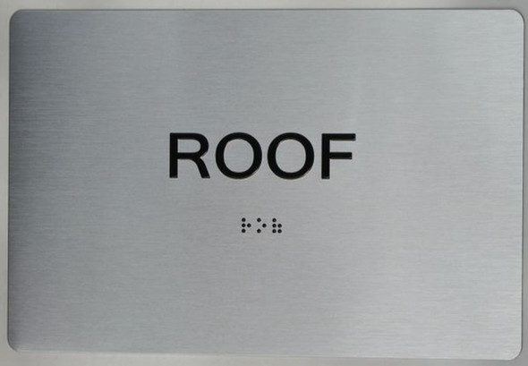 ROOF ADA Sign -Tactile Signs