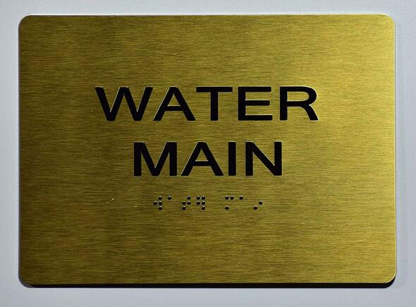 Sign Water Main