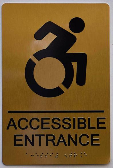 BUILDING MANAGEMENT SIGN- ACCESSIBLE Entrance