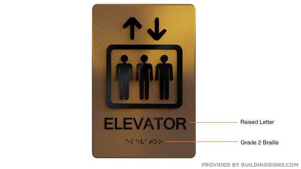 Fire Safety Sign- Elevator