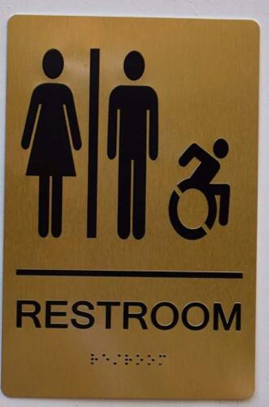 Sign RESTROOM